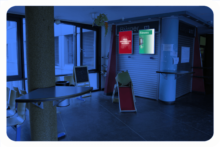 rathaus kreuzberg plakat und poster werbung im b rgeramt 1. Black Bedroom Furniture Sets. Home Design Ideas