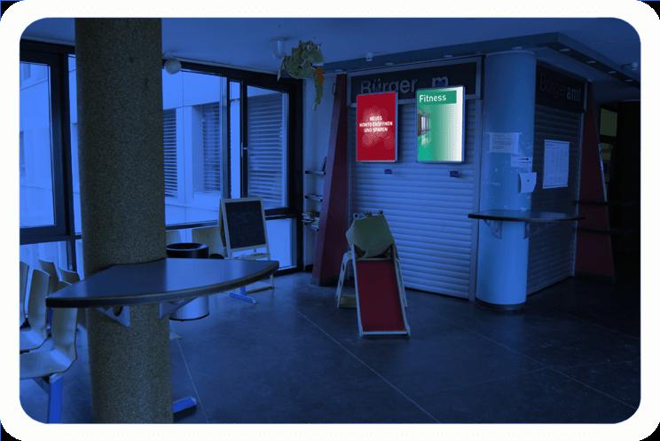 cms plakat buea rathaus kreuzberg warteraum 1. Black Bedroom Furniture Sets. Home Design Ideas